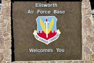 Ellsworth Air Force Base - Main entrance sign