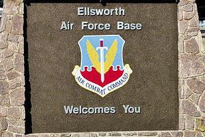 Ellsworth Air Force Base - Main entrance sign