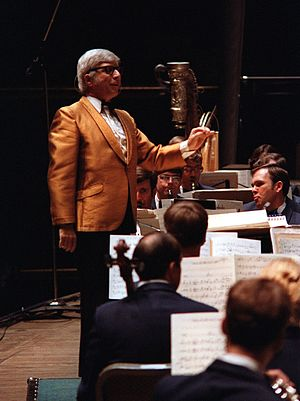 Elmer Bernstein - Bernstein guest conducting the U.S. Air Force Band in 1981