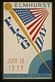 Elmhurst flag day, June 18, 1939, Du Page County centennial LCCN98509015.jpg