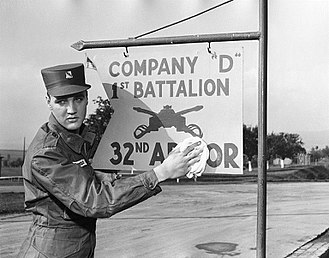 32nd Cavalry Regiment - Elvis Presley in the Army, serving with the 32nd Armored Regiment.
