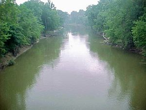 Embarras River (Illinois) - The Embarras River at Lawrenceville