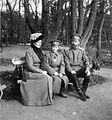Empress Alexandra Feodorovna, Tsarevich Alexei Nikolayevich and Emperor Nicholas II at Tsarskoye Selo.jpg