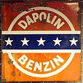 Enamel advertising sign, Dapolin Benzin.JPG