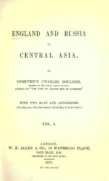 England & Russia in Central Asia,Vol-I.djvu