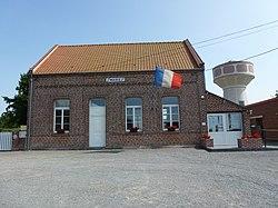 Enguinegatte (Pas-de-Calais, Fr) mairie.JPG