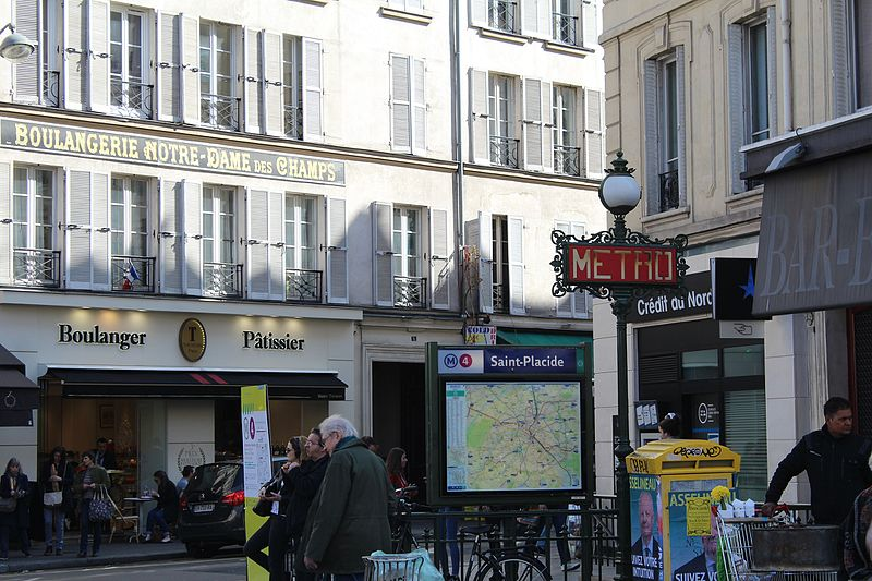 File:Entrée Métro St-Placide Paris 1.jpg
