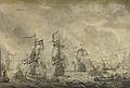 Episode uit de slag in de Sont tussen de Hollandse en de Zweedse vloot, 8 november 1658 Rijksmuseum SK-A-1973.jpeg
