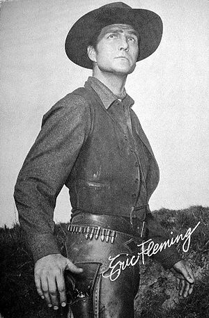 Rawhide (TV series) - Eric Fleming postcard