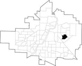 Erindale location map