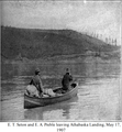 Ernest Thompson Seton and Edward Alexander Preble leaving Athabaska Landing, May 17, 1907.png