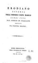 Erodiano: Istoria Dell'Imperio Dopo Marco
