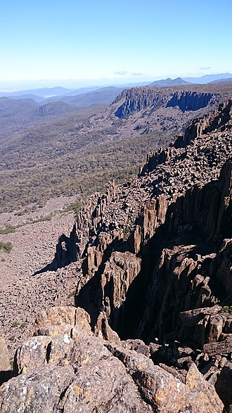Ben Lomond (Tasmania) - Jurassic dolerite on western escarpment