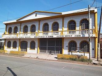 González Catán - Image: Escuela Manuel Belgrano en González Catán