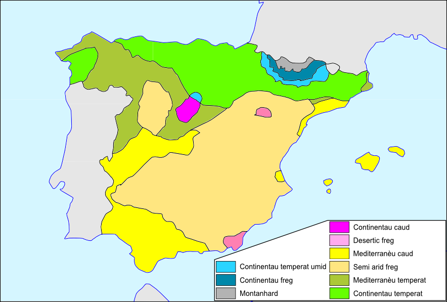 Espanha - Clima