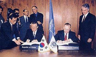 International Vaccine Institute - Signing of the IVI Establishment Agreement