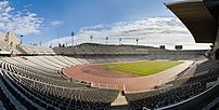 A four segment panoramic image of the Estadi O...