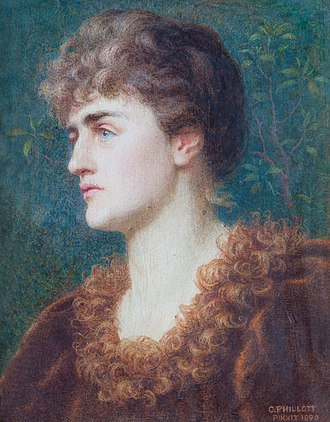 Eugénie Sellers Strong - Portrait 1890 by Constance Phillott, Girton College collection