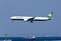 Eva Airways ,BR132 ,Boeing 777-36N(ER) ,B-16719 ,Arrived from Taipei ,Kansai Airport (16048309283).jpg