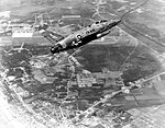 F-100F 56-3448 over Myrtle Beach Air Force Base.jpg