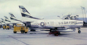 514th Fighter-Interceptor Squadron - 514th FIS F-86D 52-4133 of the 86th Air Division, about 1960