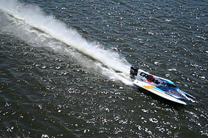 Inshore powerboat racing - A ChampBoat at the 2006 Minneapolis race.