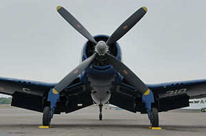 Football War - F4U Corsair, one of the piston types flown in the war