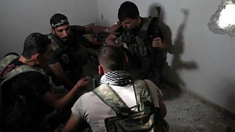 Free Syrian Army - FSA soldiers plan during the Battle of Aleppo (October 2012).