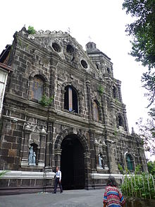 Facade of the Church of Our Lady of the Forsaken (Desamparados) in Santa Ana, Manila.jpg