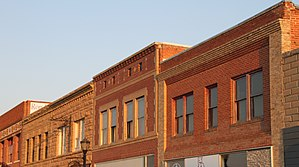 National Register of Historic Places listings in Hot Springs County, Wyoming - Image: Facades Downtown Thermopolis WY