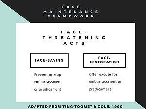 Face negotiation theory - Face Negotiation Theory: Face-Maintenance Framework