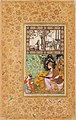 Farrukh Beg. Sultan Ibrahim 'Adil Shah II Playing the Tambur. 1595-1600, Nqprstkovo Muzeum, Prague.jpg