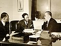 Ferdinand Smith and Earl Dickerson meeting with Donald Nelson to promote African-American man-power in war production (34626084741).jpg