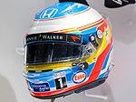 Fernando Alonso 2015 helmet front-left 2017 Museo Fernando Alonso.jpg