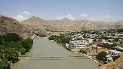Kokcha River passing in Fayzabad