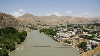 Fayzabad, Badakhshan - The Kokcha River next to Fayzabad