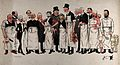 Fifteen French doctors wearing aprons and holding various Wellcome V0036164.jpg