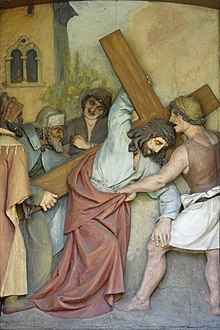 Fifth station of the cross Josef Moroder Lusenberg in Laghel Arco.jpg