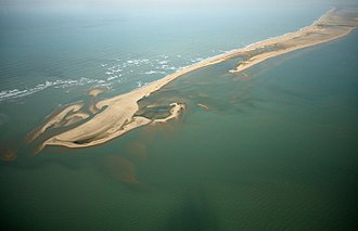 Rameswaram - An aerial view of Dhanushkodi, at the tip of Rameswaram
