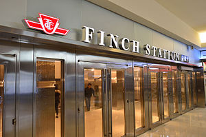 Finch station - Finch Station Entrance at North America Centre