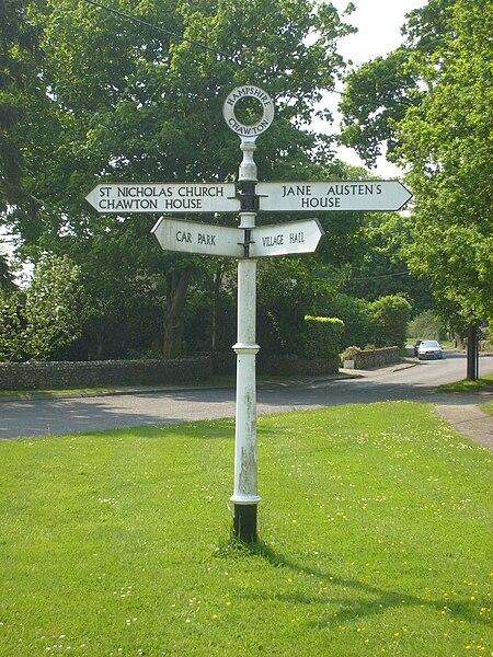 File:Fingerpost at Chawton.jpg