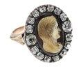 Fingerring med kamé föreställande kvinna, 1700-tal - Hallwylska museet - 110209.tif