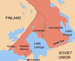 Location of Eastern Karelia