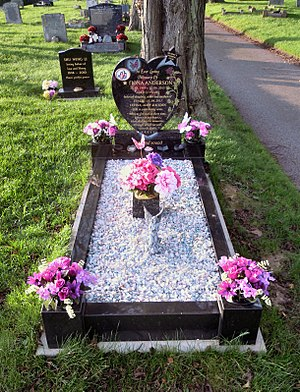 Lowestoft Cemetery - The grave of Fiona Anderson