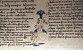 Firenze, commedia di dante, dante incontra le tre fiere con stemma orlandini, 1375-1400 ca, strozzi 148, c. 7v, 04.JPG