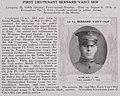 First Lieutenant Bernard Van't Hof died from wounds received in action during Second Battle of the Marne - The History and achievements of the Fort Sheridan officersʾ training camps (IA historyachieveme00fort 1) (page 165 crop).jpg