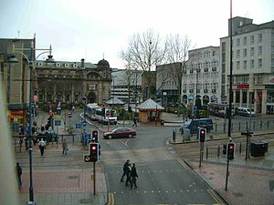 Fitzalan Square - Fitzalan Square, the Marples building is on the far right of the picture.