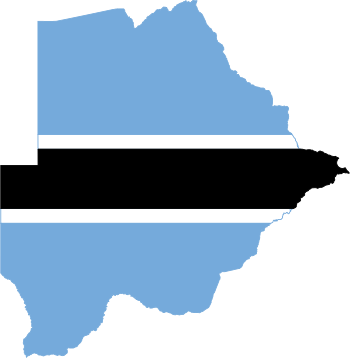 Flag-map of Botswana.svg
