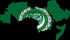 Flag of the Arab League - Image: Flag map of Arab League