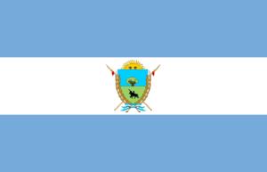 Aguíñiga - Image: Flag of La Pampa province